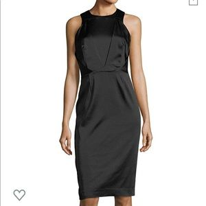 Tahari ASL Stretch Satin Sleeveless Josie Dress
